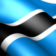 Stock Photo: Flag of Botswana