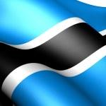 Flag of Botswana — Stock Photo