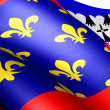 Pays de la Loire flag — Stock Photo