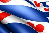 Flag of Friesland — Stock Photo