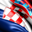 Flag of Croatia - Stockfoto