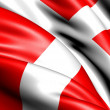 Flag of Denmark — Stock fotografie