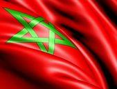 Marocká vlajka — Stock fotografie