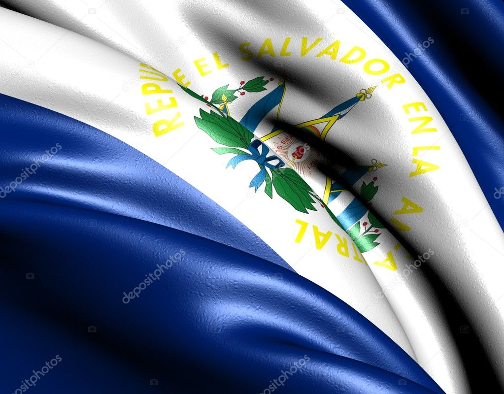 Flag of El Salvador. Close up.  — Stock Photo #5620730