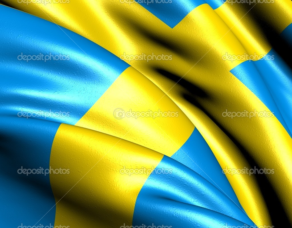 Flag of Sweden. Close up. — Stock Photo #5620977