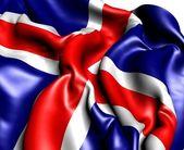 Flaga islandii — Zdjęcie stockowe