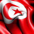 Flag of Tunisia - Stock Photo