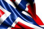 Flaga norwegii — Zdjęcie stockowe