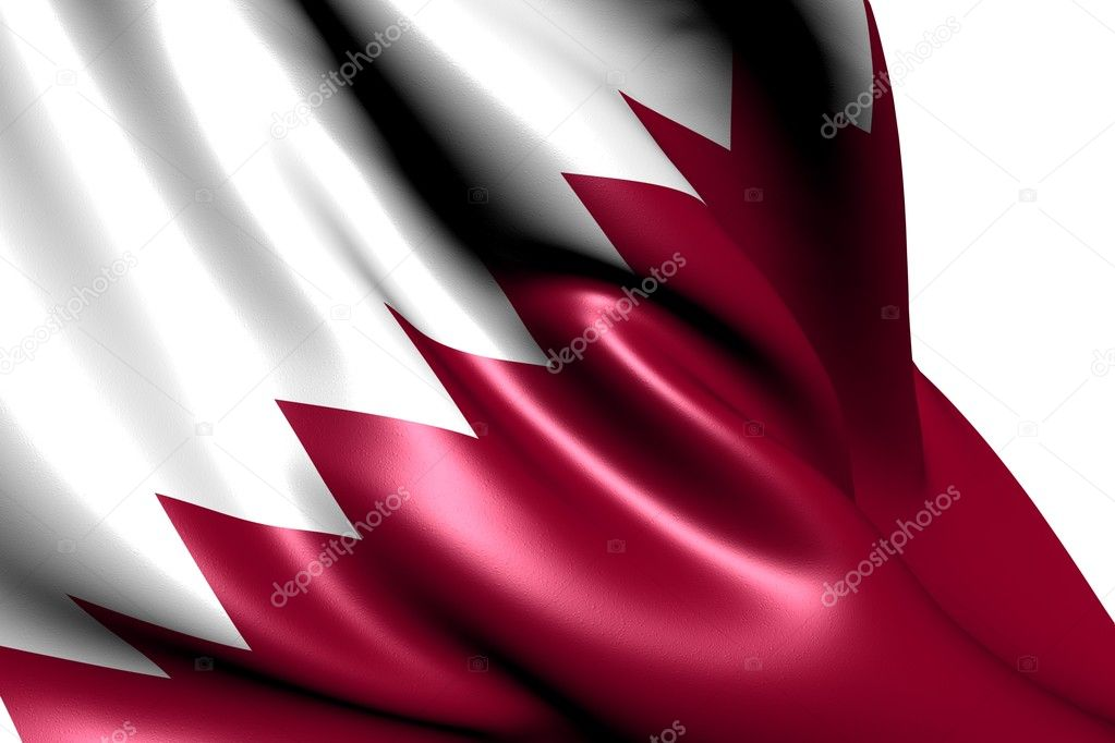 Flag of Qatar against white background. Close up.  — Stock Photo #5934984