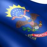 Bandeira da Dakota do Norte — Foto Stock