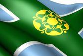 Flaga derbyshire — Zdjęcie stockowe