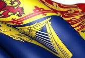 Flag of Royal Standard of the United Kingdom (Scotland) — Stock Photo