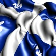 Flag of Quebec — Stock Photo