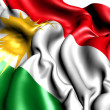 Flag of Kurdistan — Stock Photo