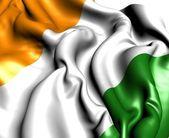 Vlag van Ivoorkust — Stockfoto