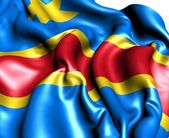 Flag of Democratic Republic of the Congo — Stock Photo
