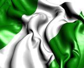 Flagge nigeria — Stockfoto