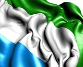 Flag of Sierra-Leone — Stock Photo