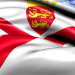 Bailiwick of Jersey flag - Stock Photo