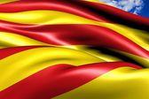 Flag of Catalonia — Stock Photo