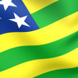Flag of Goias - Stock Photo
