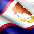 Flag of American Samoa — Stock Photo