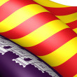 Flag of Majorca - Stock Photo