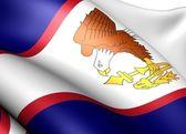 Flaga samoa amerykańskiego — Zdjęcie stockowe