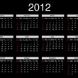 Royalty-Free Stock Vector Image: Calendar for 2012
