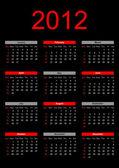 Calendario para el 2012 — Vector de stock
