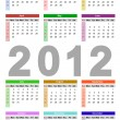 Calendar for 2012 — Stock Vector #6689884