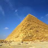 Famous ancient egypt Cheops pyramid — 图库照片