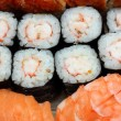 Set of rolls and sushi — Foto de Stock