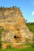 Kalimoskan rock with cave in southern Ural — Stock Photo