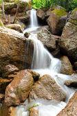 Waterfall Kukrauk in summer woods — Stock Photo