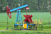 Working oil pump — Stock Photo