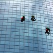 Window cleaners at work — Stock Photo