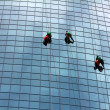 Stock Photo: Window cleaners at work