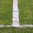Green football soccer field — 图库照片