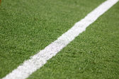 Green soccer football field — Stock Photo