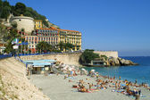 Summer beach in City of Nice, France — Stock Photo