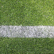 Green soccer/football field — Foto de Stock