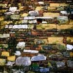 parede de tijolos antigos — Foto Stock