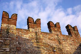 Old city wall in Verona, Italy — Stock Photo