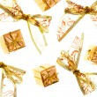 Christmas gold bows and star — Stock Photo #5577764