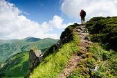 Treveller hiking — Stock Photo