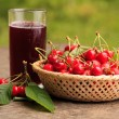 Cherries in basket — Stock Photo #6055262