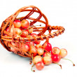 Cherries in basket — Stock Photo #6055394