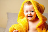 Girl after bath — Stock Photo