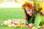 Autumn girl — Stock Photo